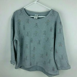 Grey Disney Princess print sweatshirt 2X